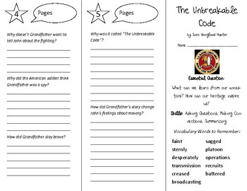 The Unbreakable Code Trifold - Open Court 4th Grade Unit 3 Lesson 1