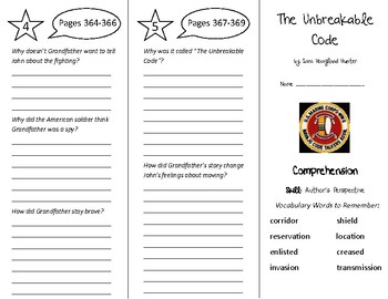 The Unbreakable Code Trifold - Treasures 5th Grade Unit 3 Week 5 (2011)