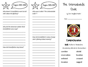 The Unbreakable Code Trifold - Treasures 5th Grade Unit 5 Week 4 (2009)