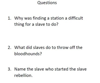 Informational Text The Underground Railroad