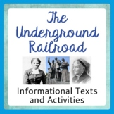Underground Railroad Informational Texts Activities