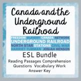 The Underground Railroad (Bundled Set of ESL Activities)