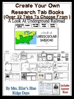 The Underground Railroad: Create Your Own Tab Research Notes