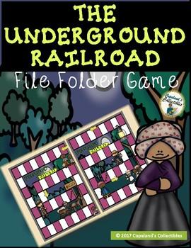 The Underground Railroad File Folder Game