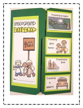 The Underground Railroad Lapbook - 3rd to 6th Grade Edition