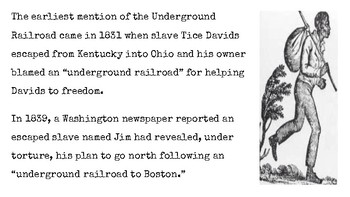 The Underground Railroad and Communications Along It