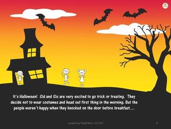 Social Skills Story: Halloween