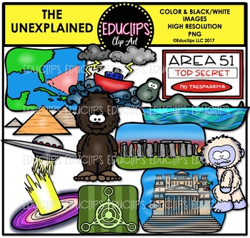 The Unexplained Clip Art Bundle {Educlips Clipart}