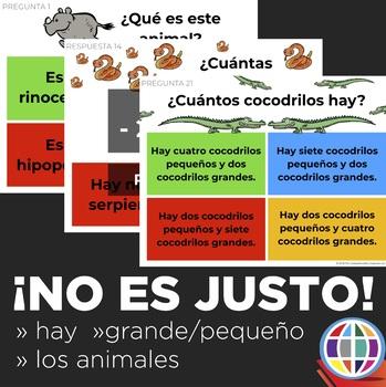 The Unfair Game in Spanish: Hay, Este es, Animals