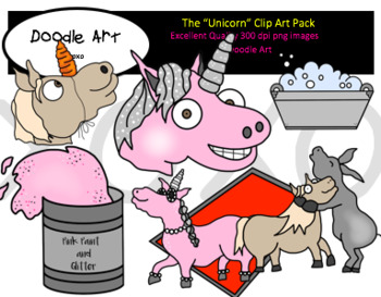 """The """"Unicorn"""" Clipart Pack"""