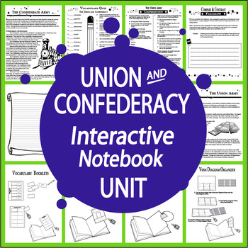 The Union and Confederacy Interactive Notebook Mini Unit