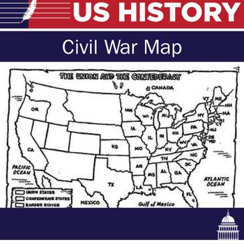 Union And Confederate Map By Not Another History Teacher Tpt