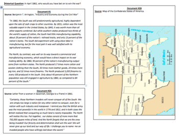 The Union vs. The Confederacy (LP + Docs + PPT + Charts)