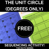 The Unit Circle (DEGREES ONLY) Sequencing Activity!