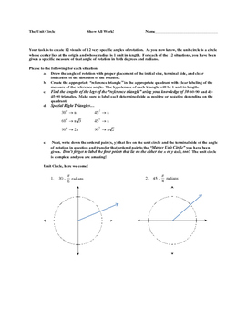 The Unit Circle Learning Document