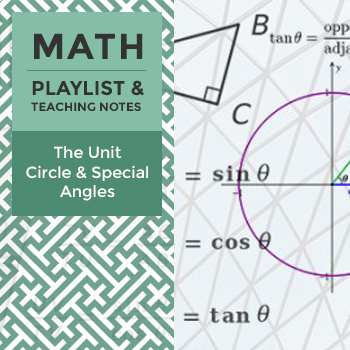 The Unit Circle and Special Angles - Playlist and Teaching Notes