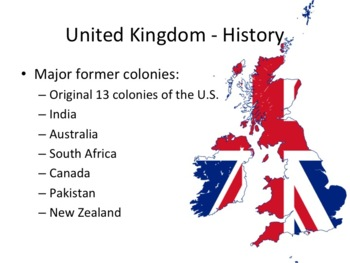 United Kingdom - Great Britain Geography and History PowerPoint