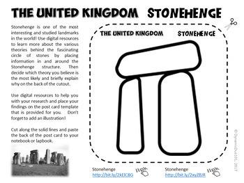 The United Kingdom Interactive Notebook Activities Student Workbook w/ Test Prep