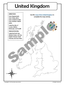The United Kingdom:  Worksheets, Maps, and Journaling Pages