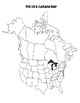 The United States & Canada - Physical Geography Map