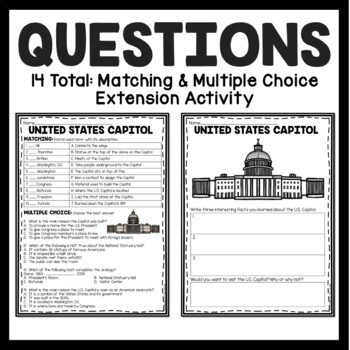 The United States Capitol Reading Comprehension; American Landmark; Government