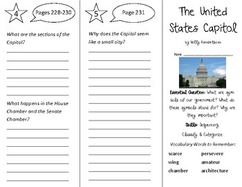 The United States Capitol Trifold - Open Court 3rd Grade Unit 5 Lesson 4