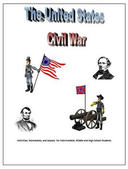 Civil War Unit Worksheets Activities and Projects
