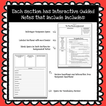 *FREEBIE* The United States Constitution Interactive Guided Notes