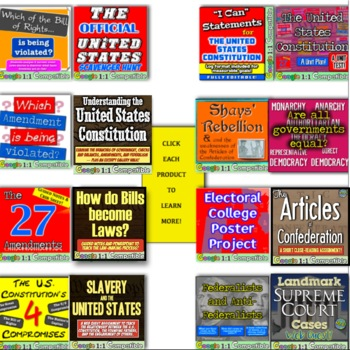 Constitution Unit: 16 fun lessons to teach the US Constitution! Fun & Engaging!