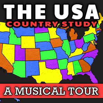 The United States Geography Song: Social Studies Activity with United  States Map