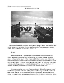 The United States, Pearl Harbour, Japan, and WWII