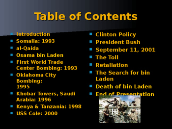 The United States & Terrorism - Events Prior to 9-11