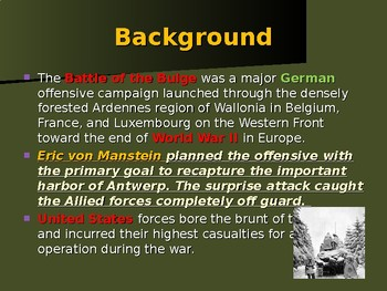 The United States & WW II - European Theater - Battle of The Bulge