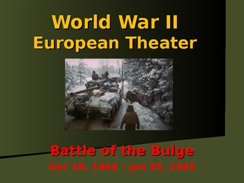 The United States & WW II - European Theater - Battle of T