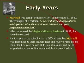 The United States & WW II - Military Leaders - George Marshall
