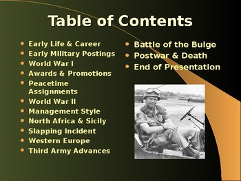 The United States & WW II - Military Leaders - George Patton