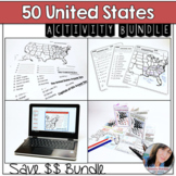 50 States and Capitals Assessments and Activity Bundle
