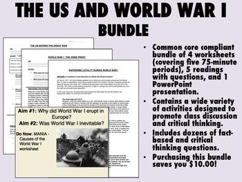 The United States and World War I Bundle - US History/APUSH