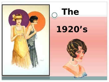 1920's  U.S. History Power Point Presentation