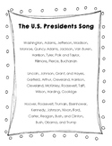 The Unites States of America Presidents Song