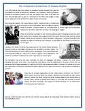 The Universal Declaration Of Human Rights - Reading Comprehension Worksheet