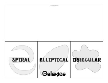 The Universe: Galaxies Fold and Sort Organizer