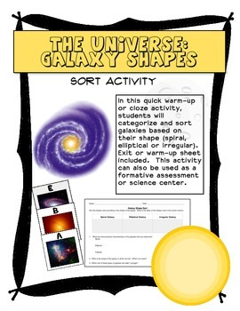 The Universe:  Galaxy Shape Sort