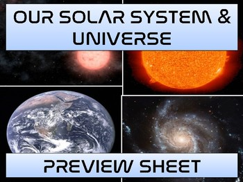 The Universe & Solar System - Complete Unit