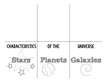 The Universe:  Stars, Planets and Galaxies Fold and Sort Organizer