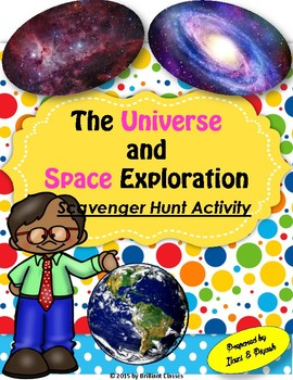 The Universe and Space Exploration Scavenger Hunt - An Activity