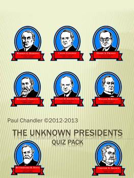 The Unknown Presidents Quiz Pack