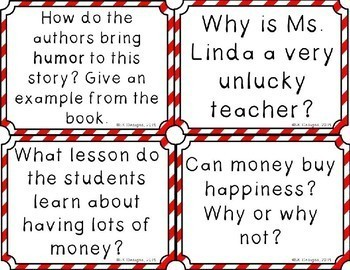 The Unlucky Lottery Winners of Classroom 13 Discussion Question Cards
