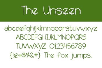 The Unseen Font for Commercial Use