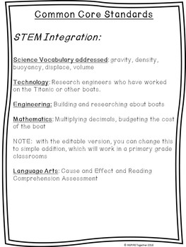 The Unsinkable Boat! STEM Resource